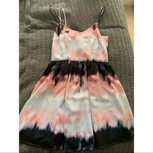 Tie dye mini jack dress